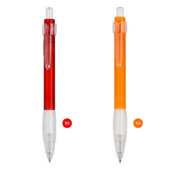lapicero de plastico rojo y naranja