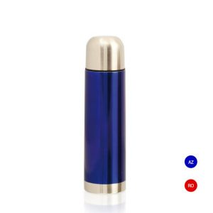 termo metalico azul acero inoxidable