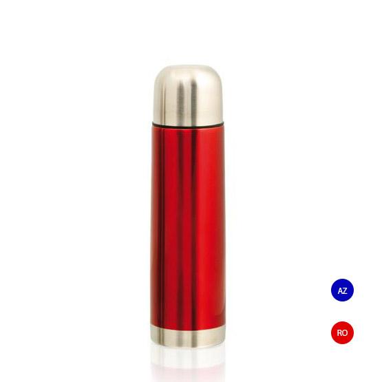 termo metalico rojo acero inoxidable
